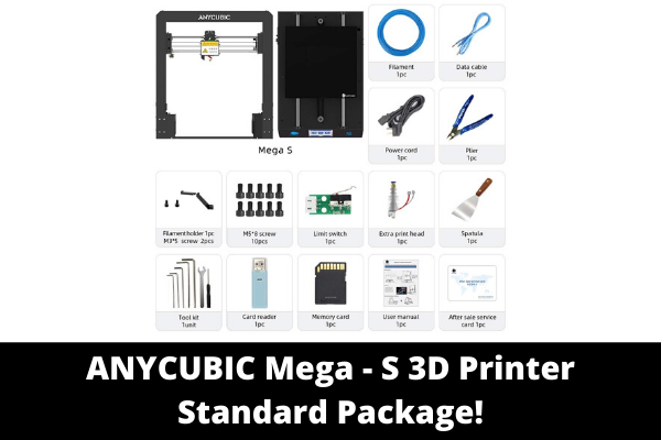 ANYCUBIC Mega - S 3D Printer Standard Package!