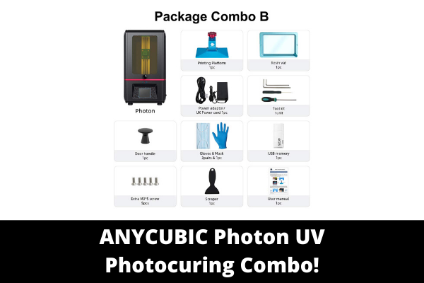 ANYCUBIC Photon UV Photocuring 3D Combo!