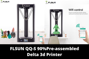 FLSUN QQ-S 90%Pre-assembled Delta 3d Printer